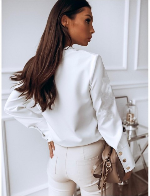 Women's Blouse Shirt Solid Colored Long Sleeve Button St ing Collar Basic Tops White Black